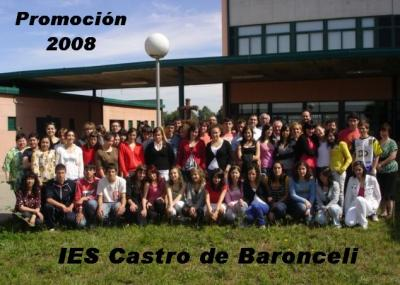 Foto oficial de los alumnos de 4º curso