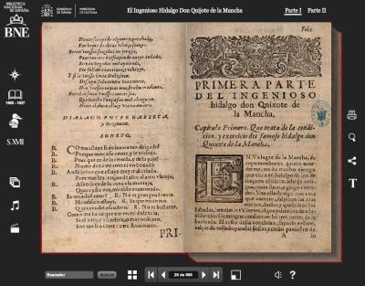 """Versión interactiva de la primera edición del """"Quijote"""""""